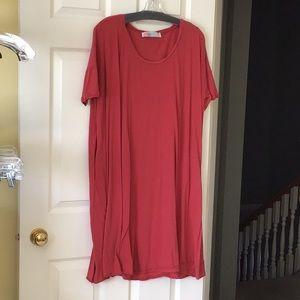 Free People Red T Shirt Dress